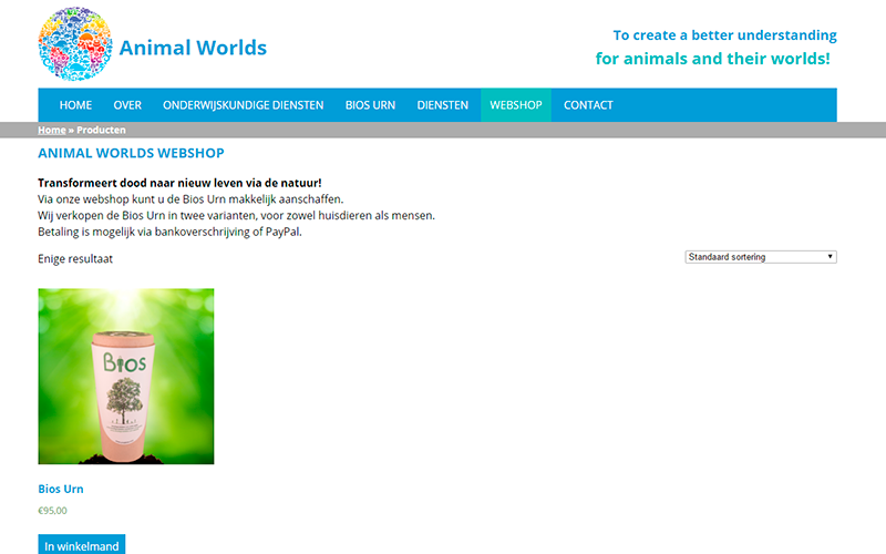 Animal Worlds webshop