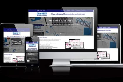 Nieuwe website CharM Webmarketing 2017