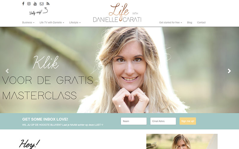 Life with Danielle Carati website